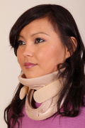 Mei-Li in Humane restraints and neck brace (plus video)